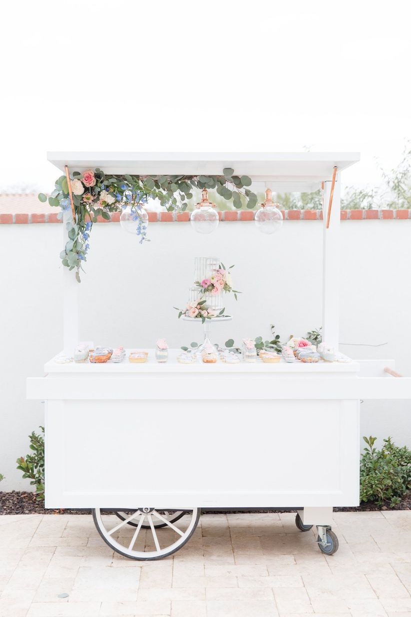 garden dessert cart