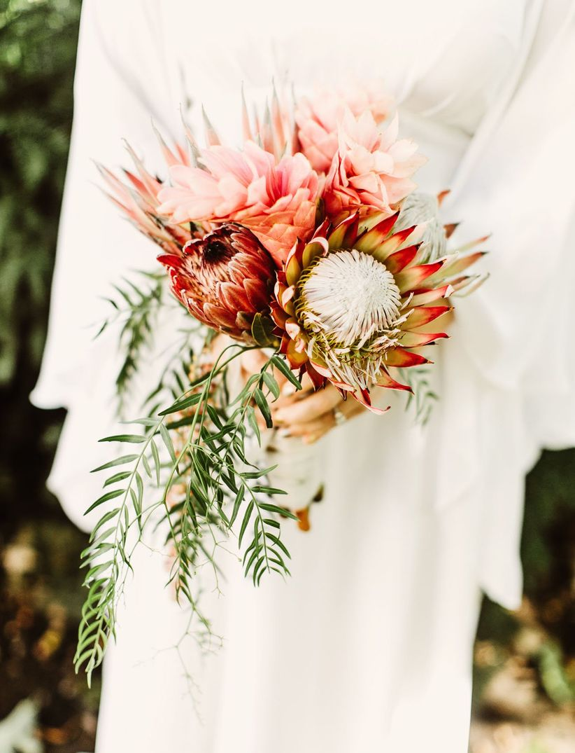 20 King Protea Bouquets That are Bold and Beautiful - WeddingWire
