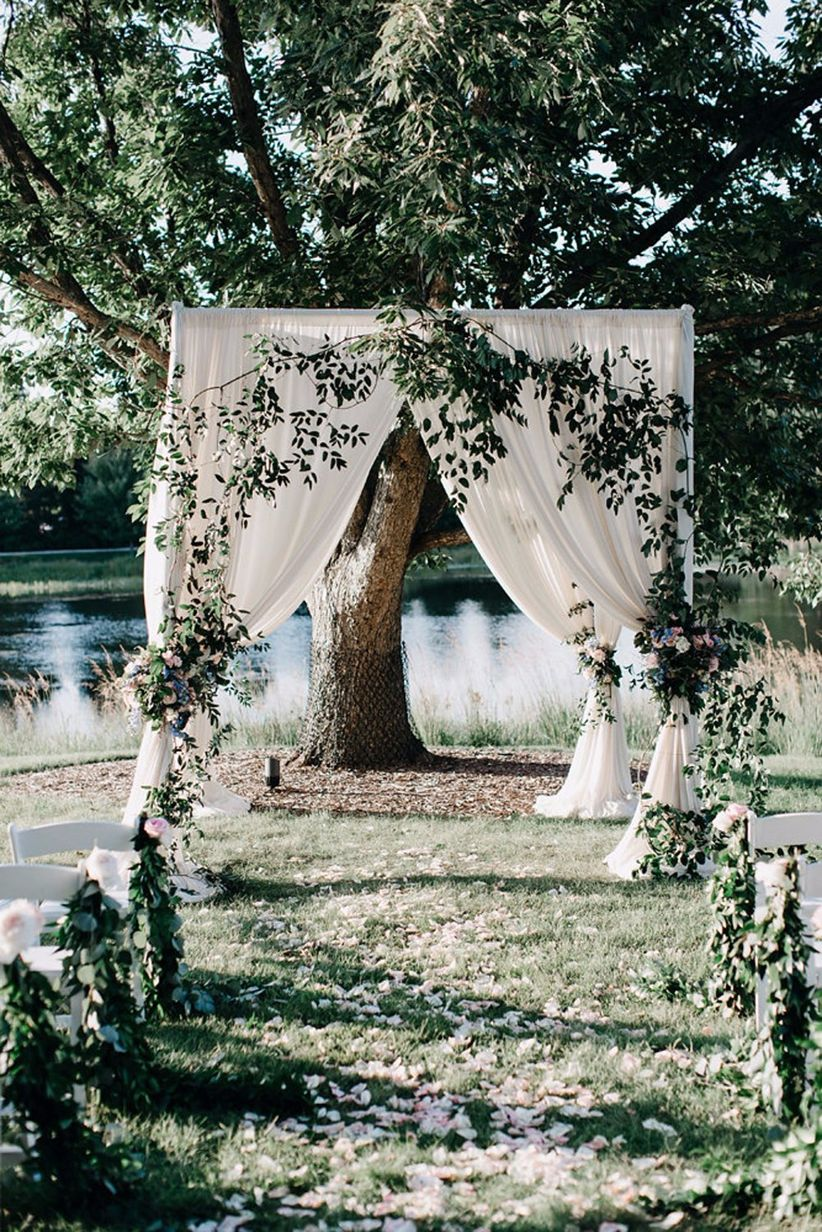 whimsical garden wedding
