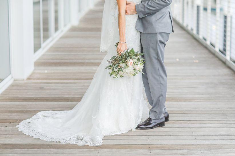 wedding couple lower halves