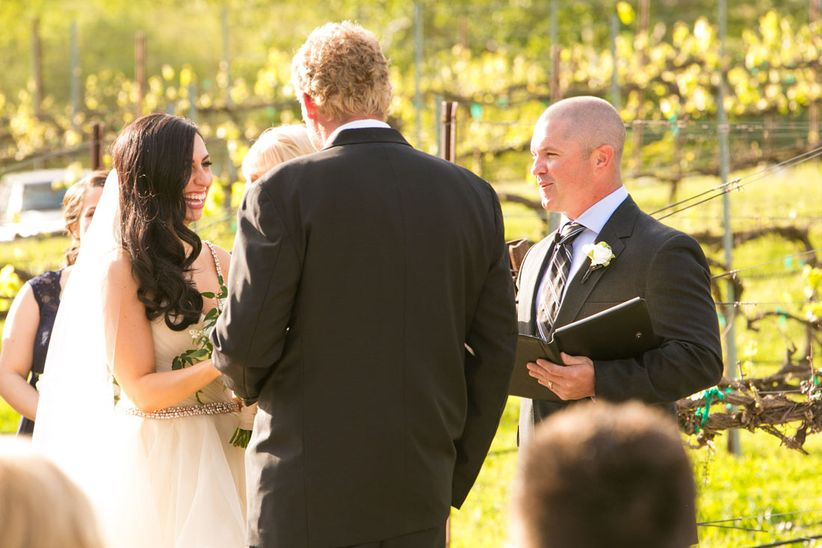 couple at wedding ceremony