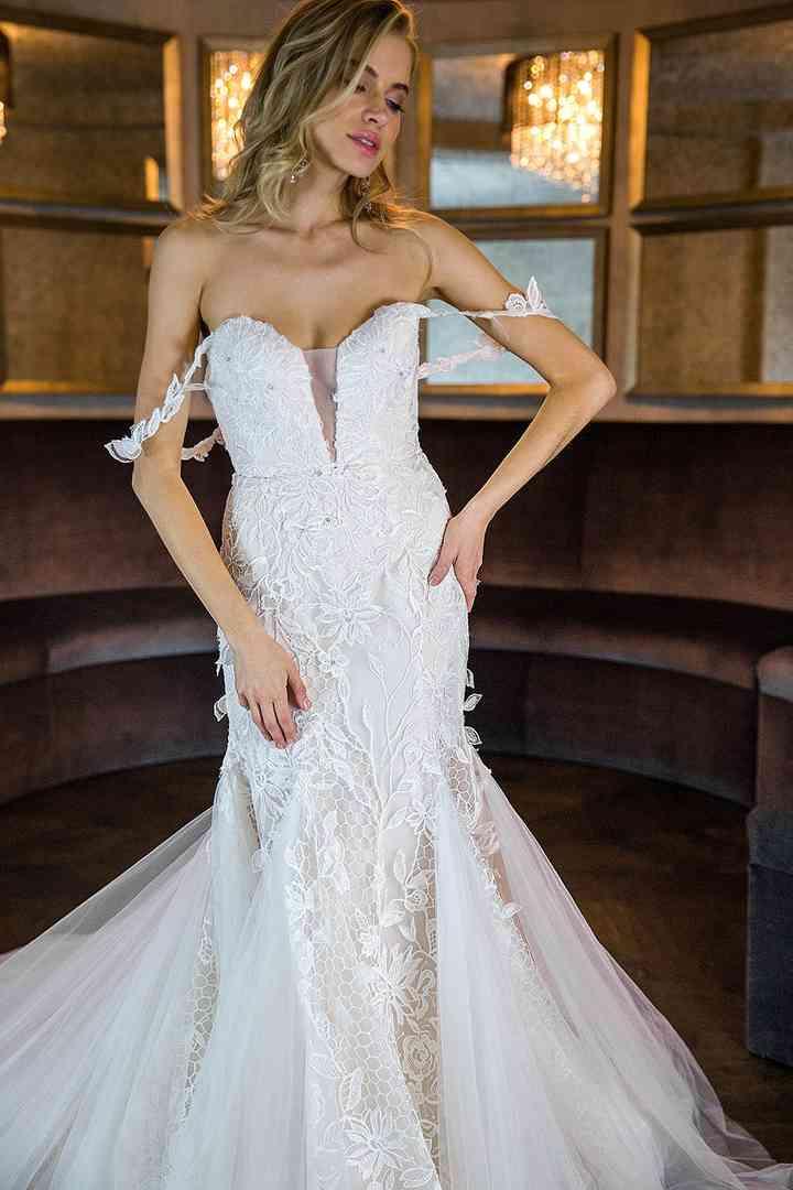 Monique Lhuillier Maeve Wedding Dress Used Size 8 4 950