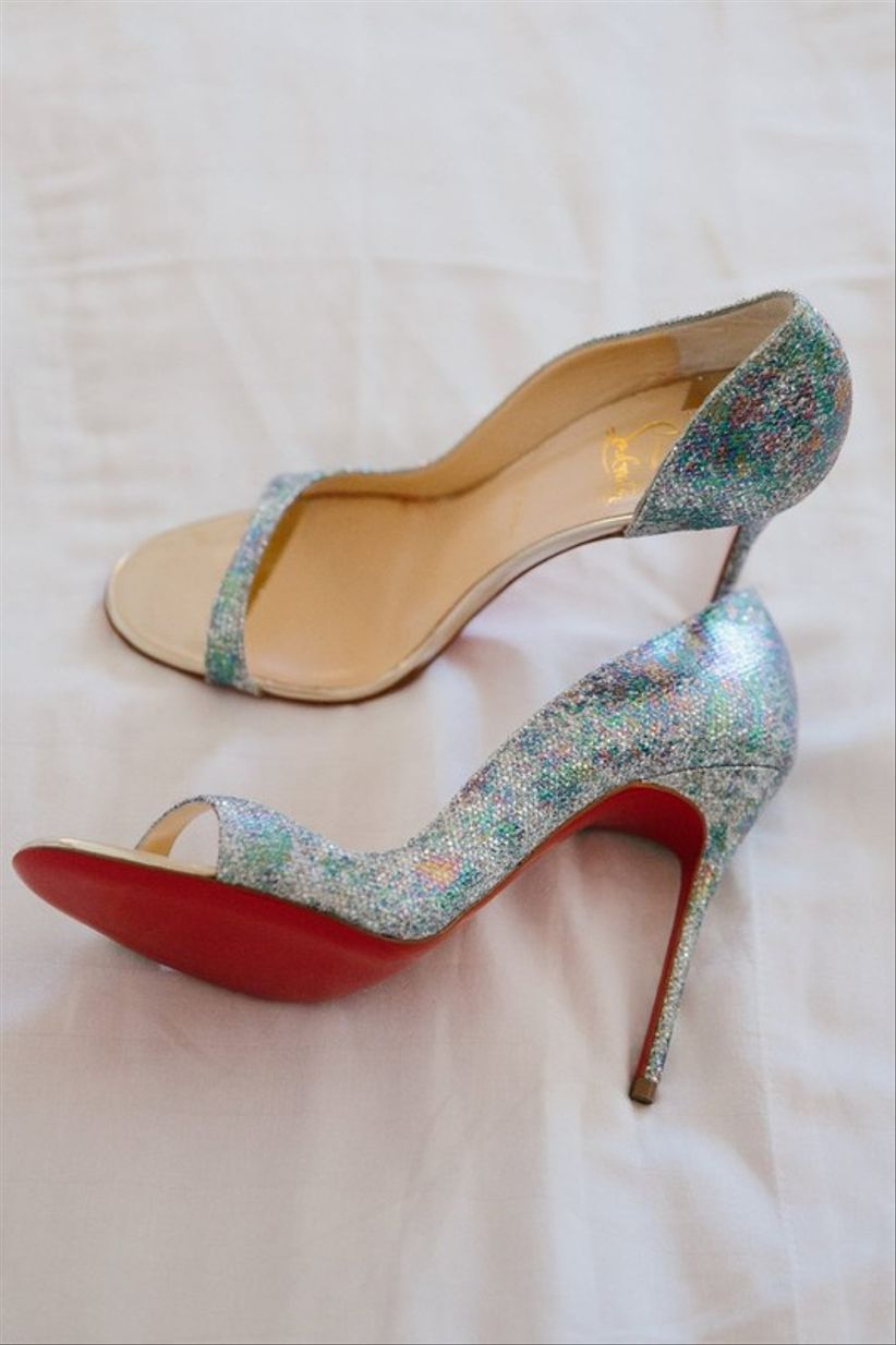 iridescent wedding shoes by Christian Louboutin