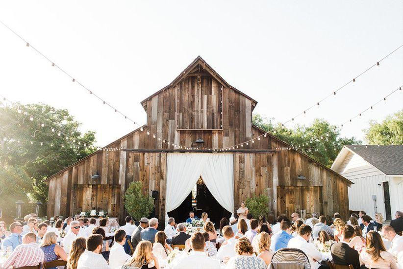 rustic outdoor barn wedding reception in Santa Barbara