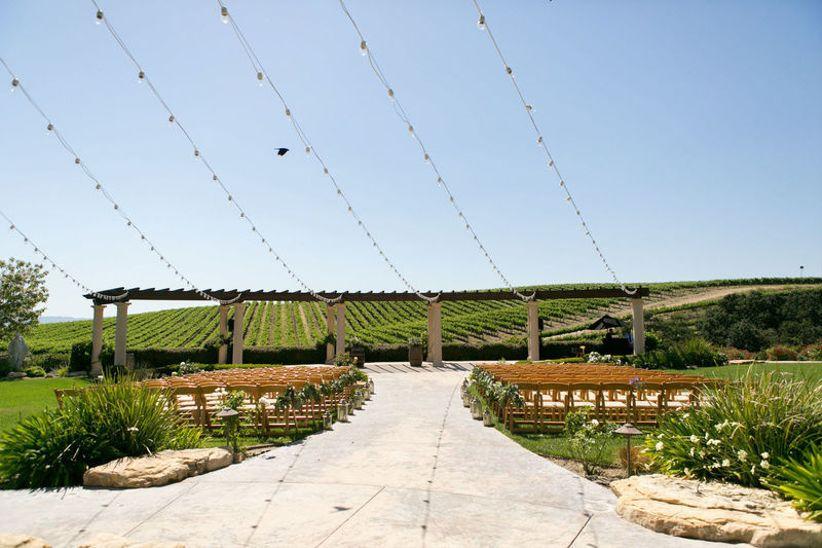 outdoor wedding ceremony space in Santa Barbara