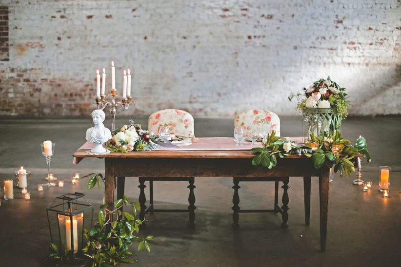 23 Sweetheart Table Ideas for Newlyweds Who Only Have Eyes for Each Other