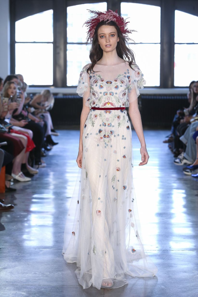 13 floral wedding dresses for brides who just really love dan lecca junglespirit Image collections