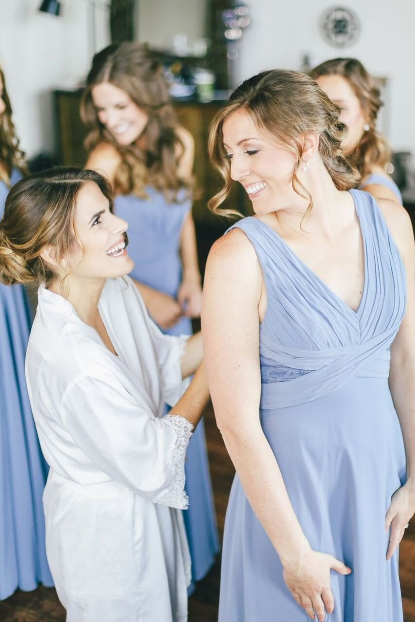 55059ad7091 A Bride s Guide to Bridesmaid Dress Shopping - WeddingWire