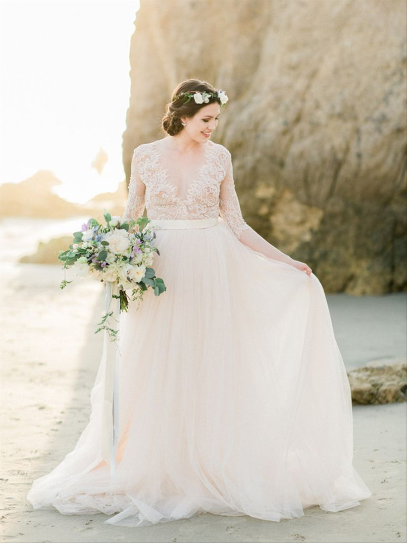 41f63923bd7f The Wedding Dress Shopping Timeline Every Bride Must See - WeddingWire