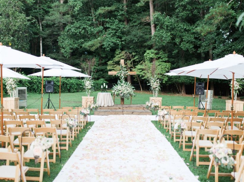 little river farms wedding ceremony outdoor