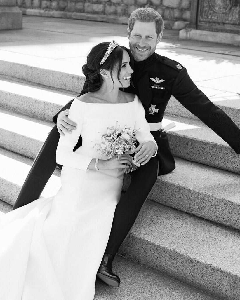harry and meghan royal wedding portrait
