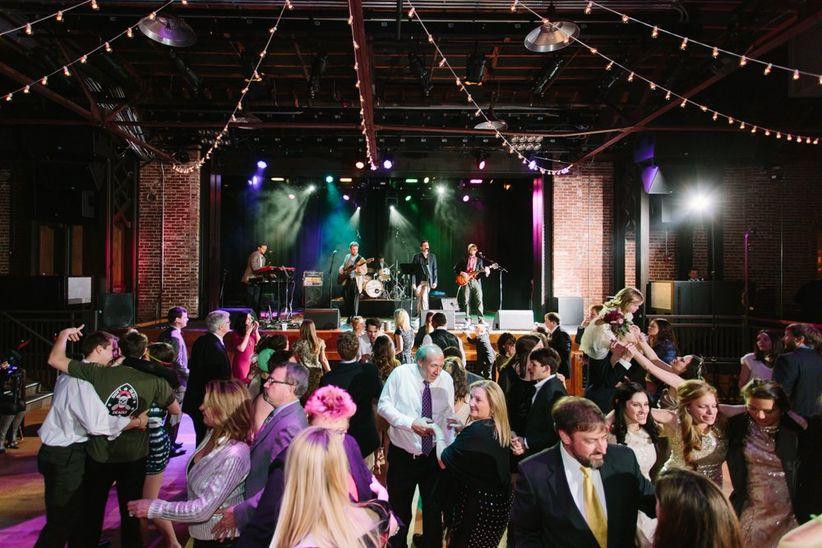 wedding band performing at reception