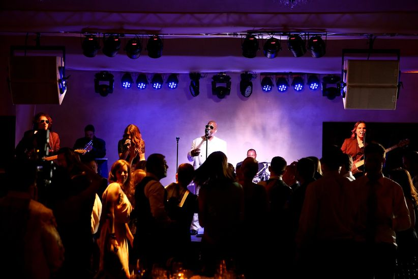 wedding band performing at reception