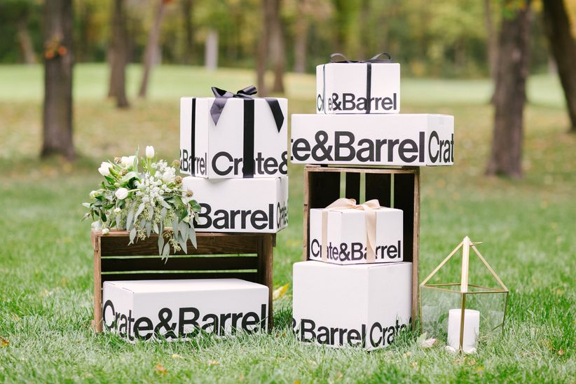 crate and barrel gift boxes