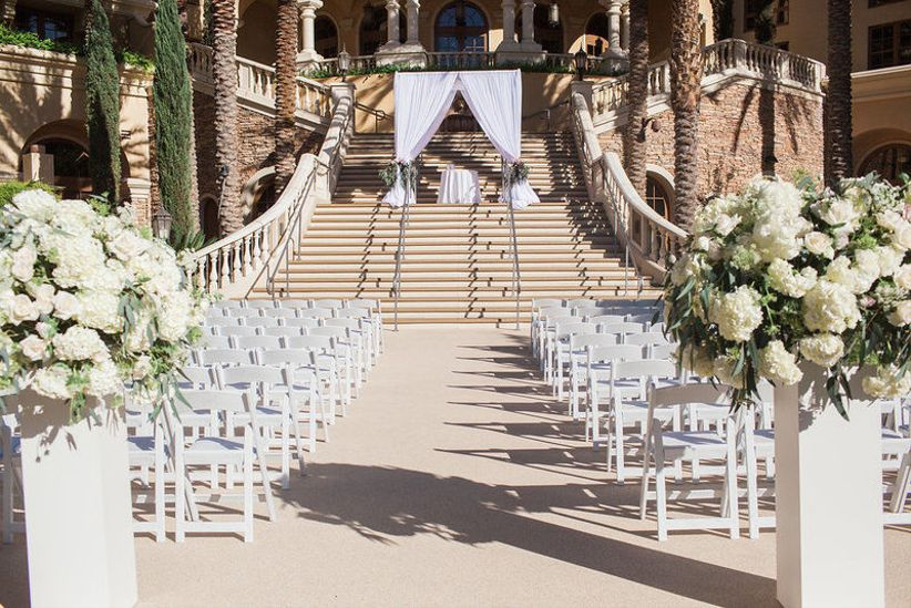 outdoor wedding ceremony in Las Vegas at luxury ranch