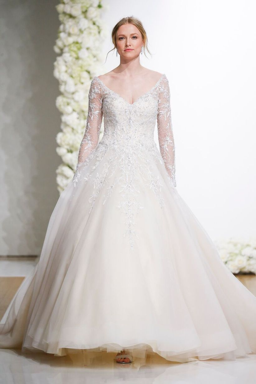 10 ballroom wedding dresses for a glamorous walk down the aisle check out these ballroom wedding dresses that are perfect for an ultra chic celebration junglespirit Images