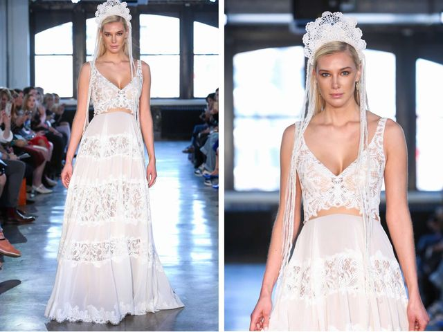 8 Crop-Top Wedding Dresses for Trendy Brides-To-Be