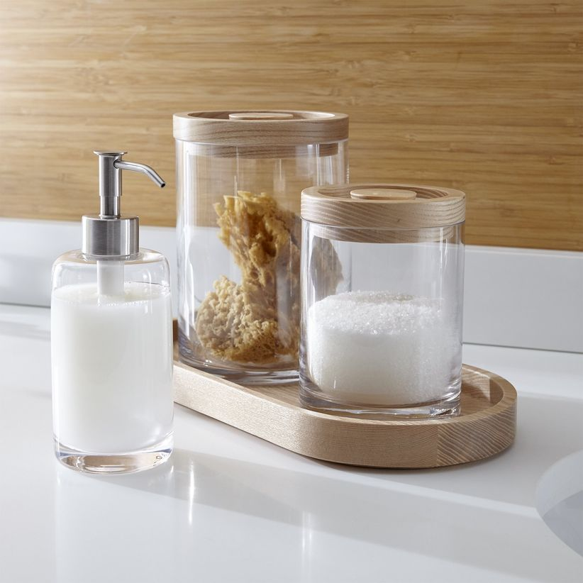crate and barrel bathroom accessories
