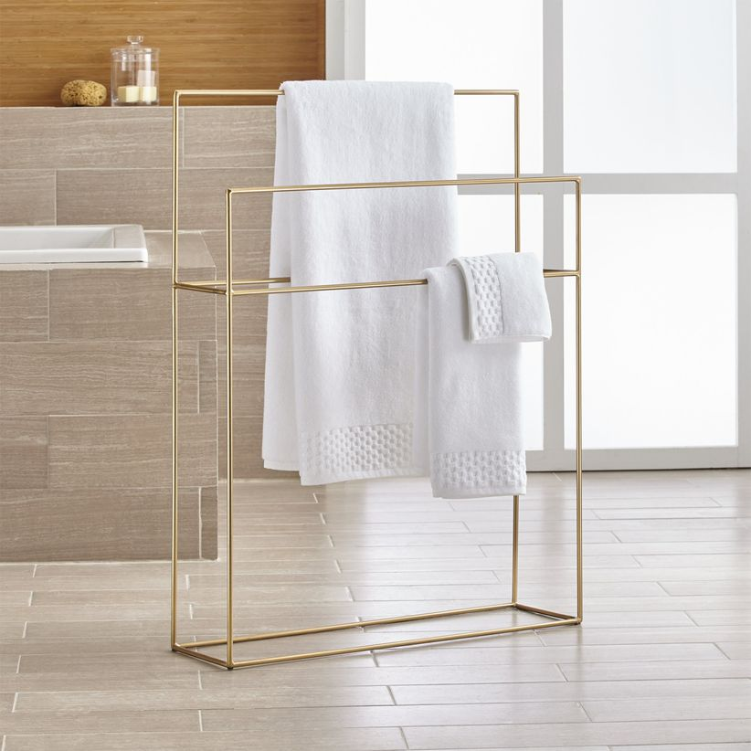 crate and barrel towel rack