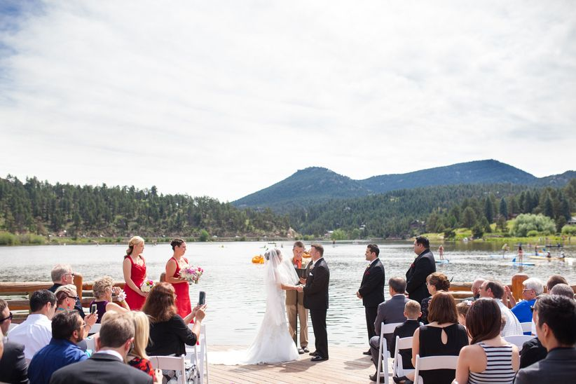 mountain lake wedding ceremony