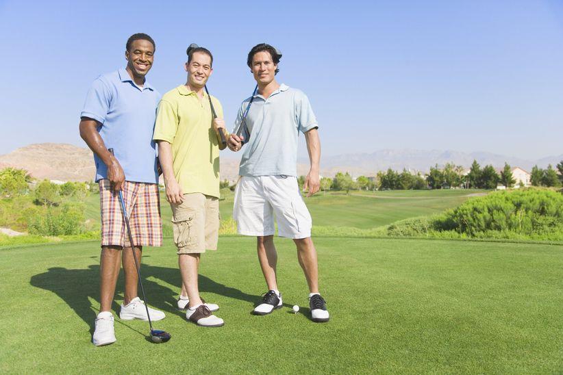 men on golf course