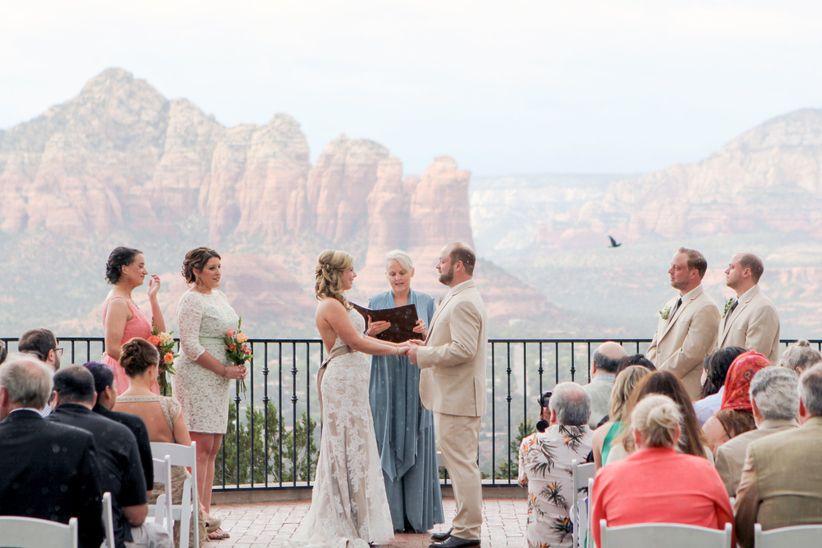 sky ranch lodge wedding ceremony arizona