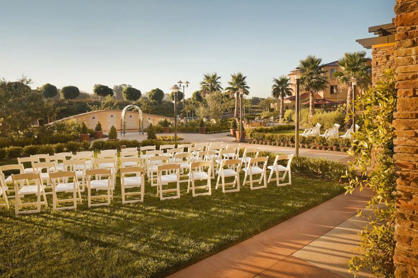 outdoor wedding ceremony site at SpringHill Suites Napa Valley