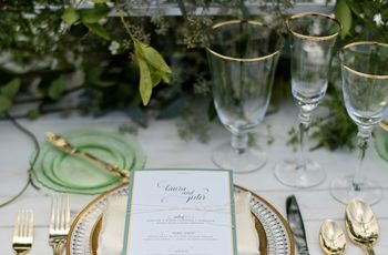 14 Ways to Use Metallic Wedding Colors on the Big Day