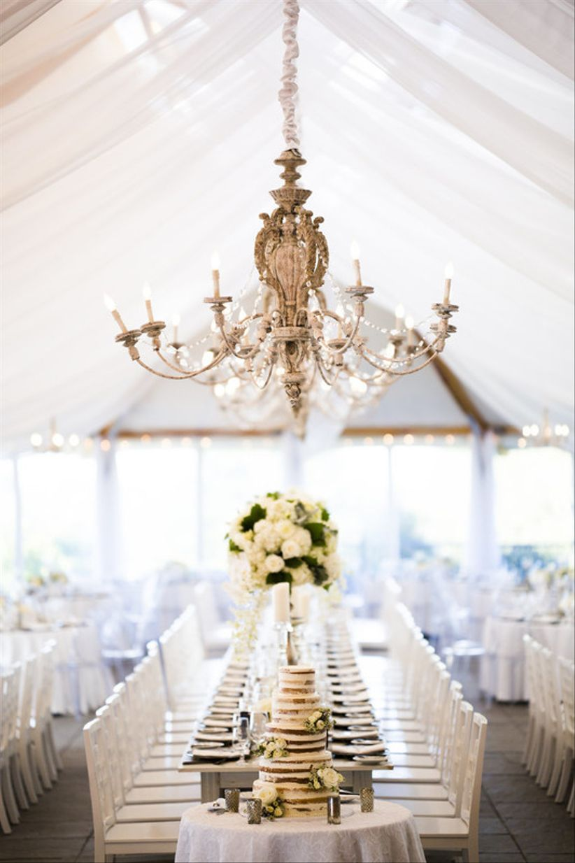 shabby chic chandelier for elegant wedding