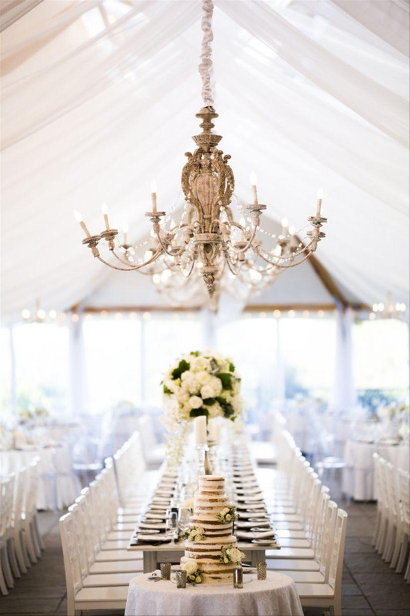 shabby chic chandelier for elegant wedding