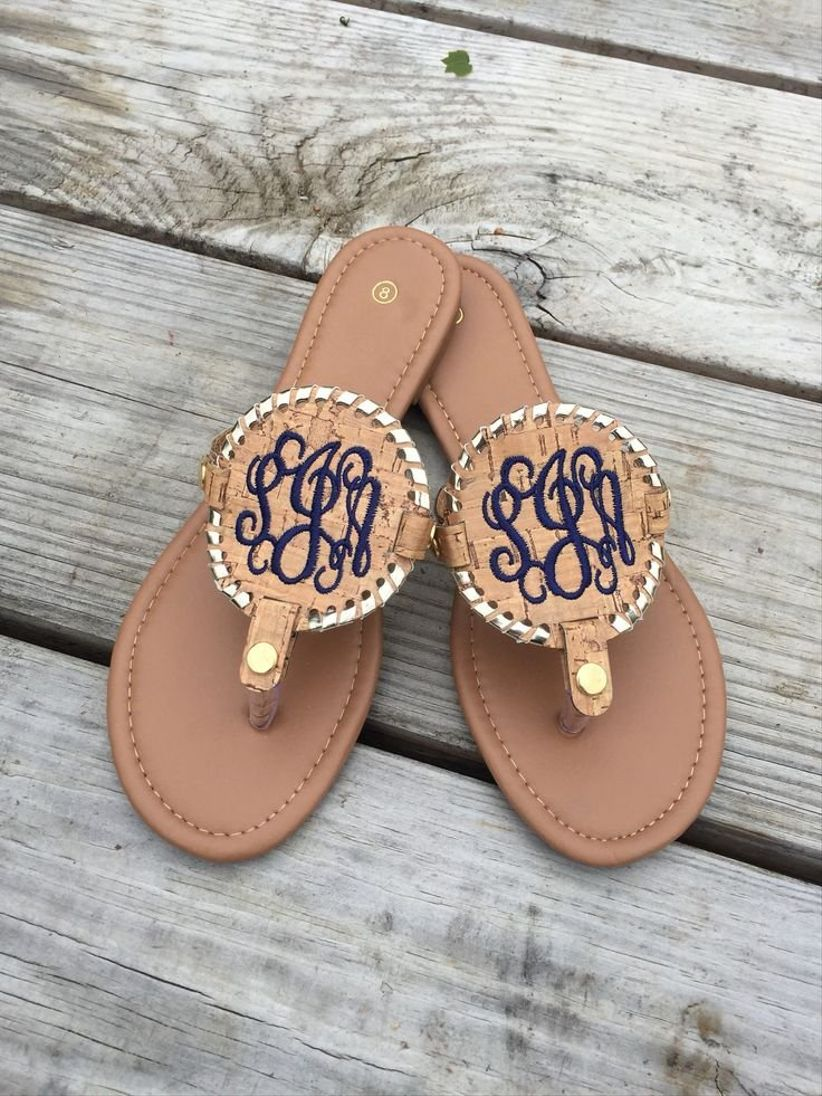 4948affcaa8dbc Have your BFFs slip into these monogrammed sandals during your wedding  weekend and wear them long after your big day. Available in a range of  color ...