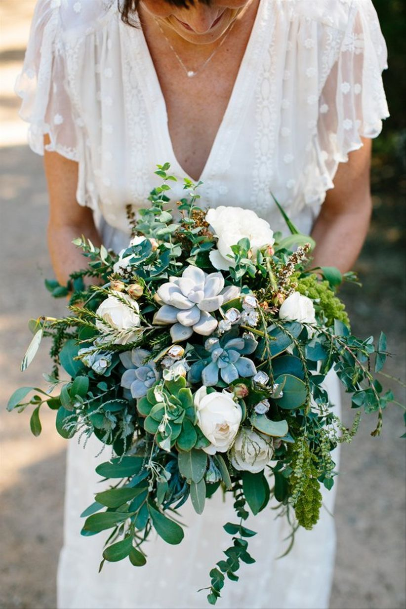 succulent greenery bouquet