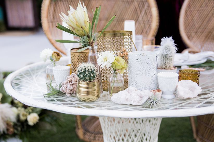 cactus wedding decor