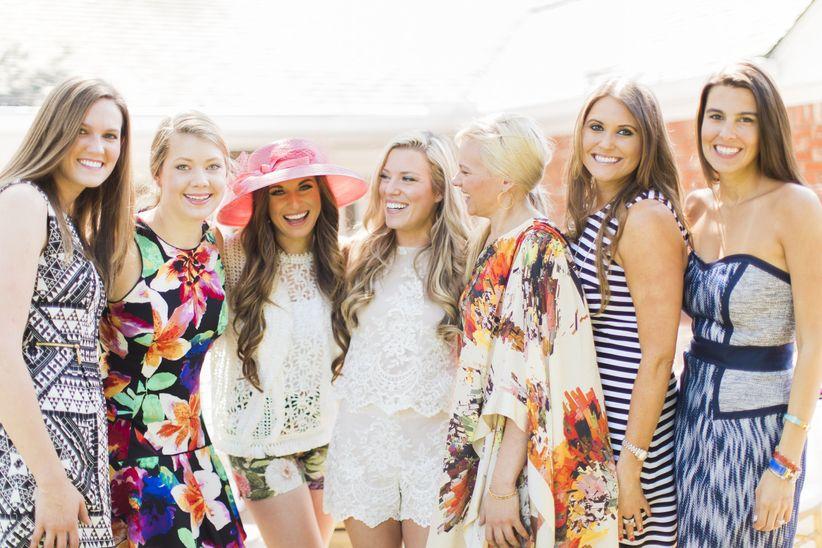 bridesmaids at bridal shower
