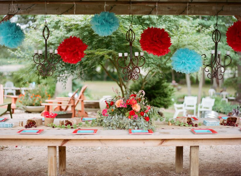 engagement party tablescape
