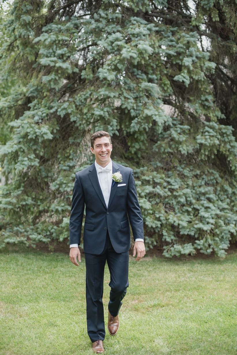 groom walking