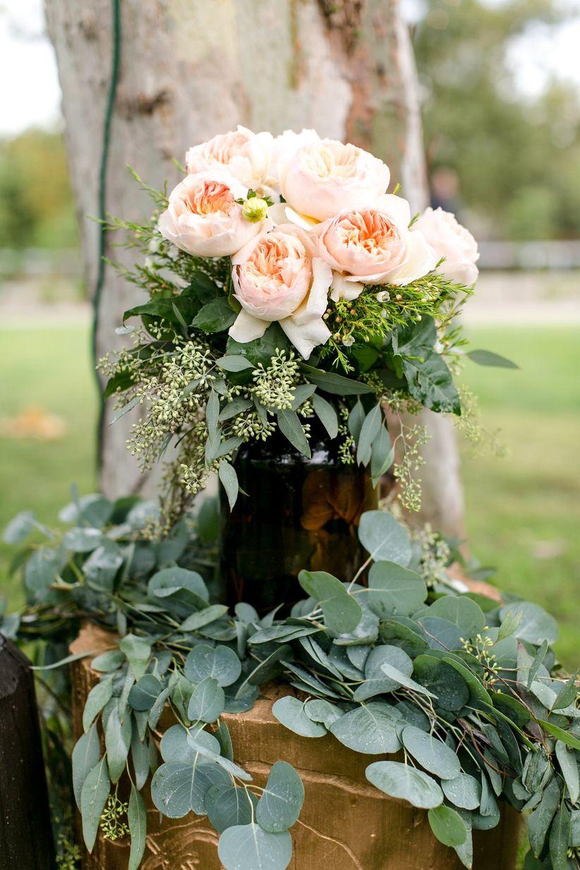 Juliet rose wedding bouquet