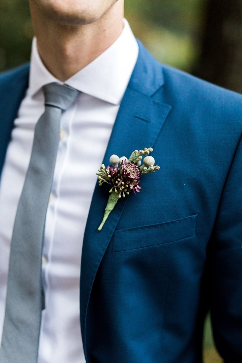 astrantia wedding boutonniere