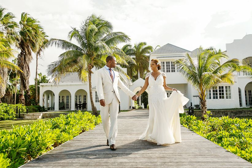 couple walking in jamaica
