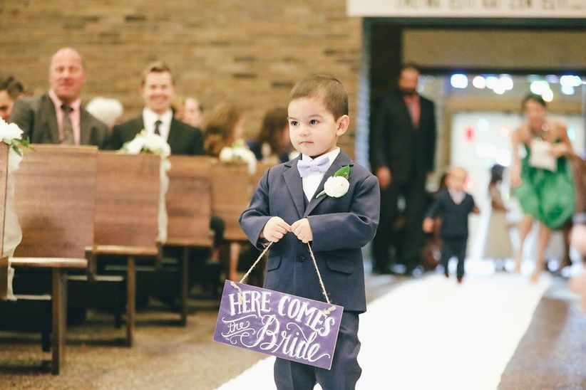 ring bearer at wedding