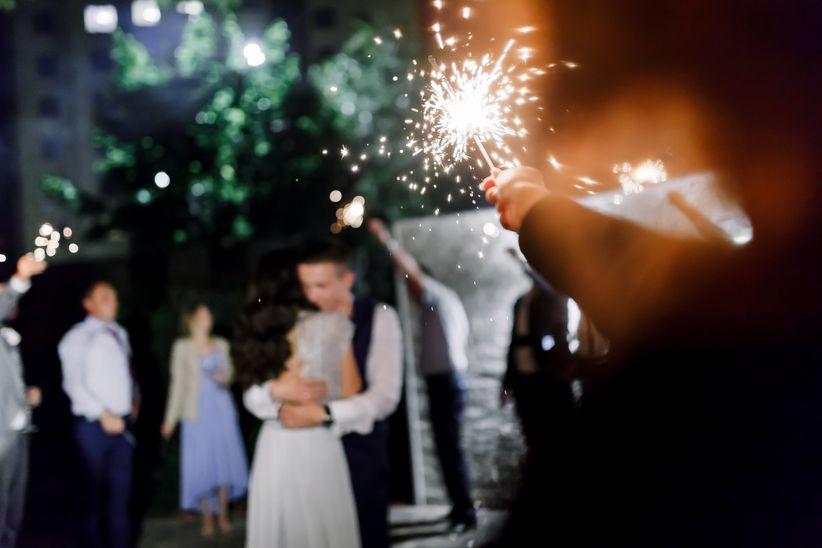 wedding night sparklers