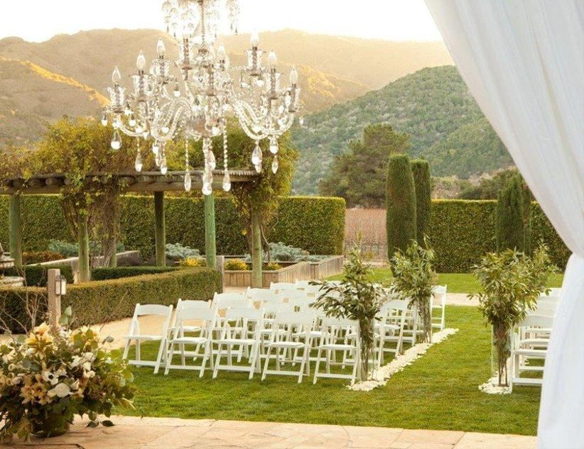 formal rose garden wedding at Bernardus Lodge & Spa Carmel, California
