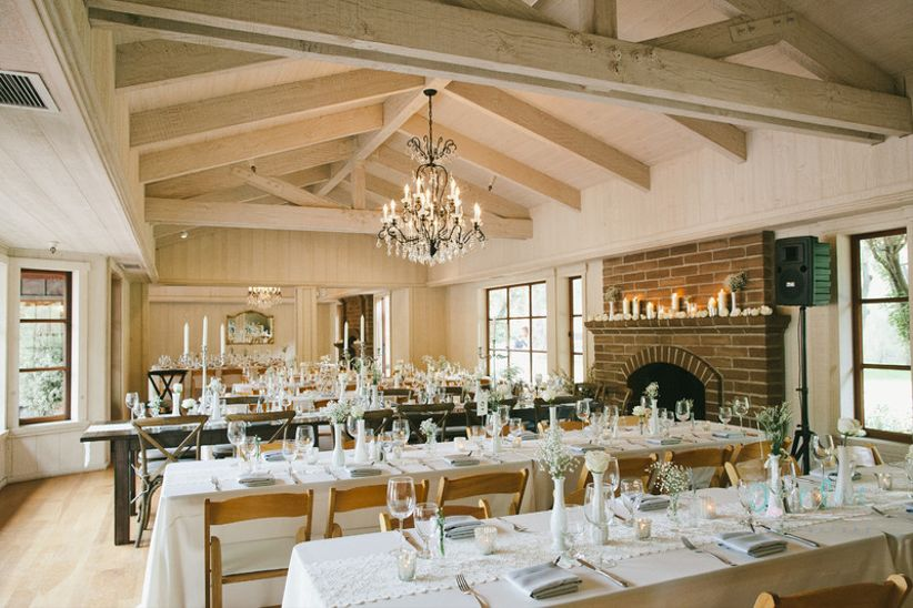 cozy rustic wedding space at Gardner Ranch Carmel, California