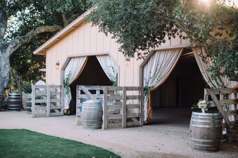 wedding reception space at Holman Ranch Vineyards