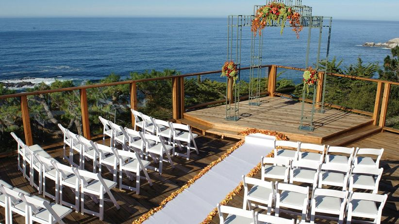 oceanfront wedding ceremony at Hyatt Carmel Highlands Big Sur, California