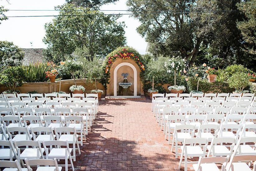 wedding ceremony courtyard at La Playa Carmel Hotel, California