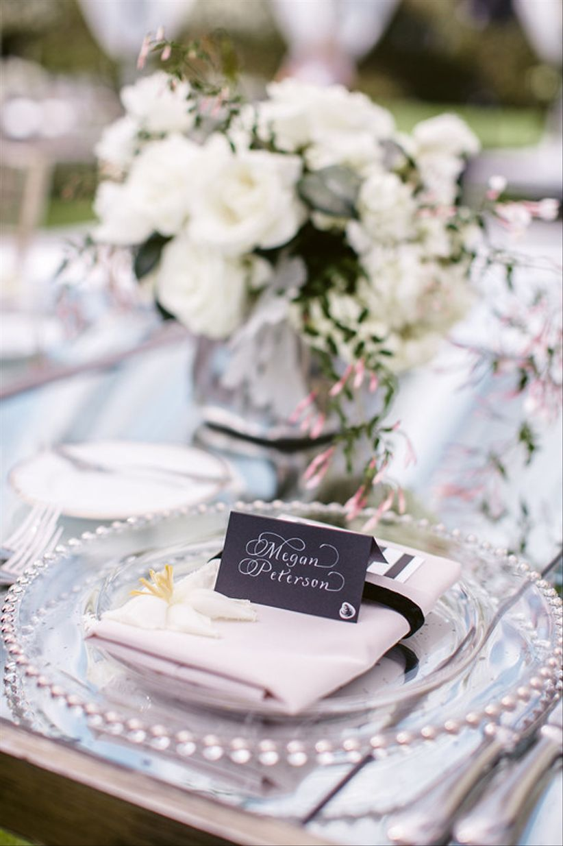 classic garden wedding place setting with place card - Wedding Place Cards