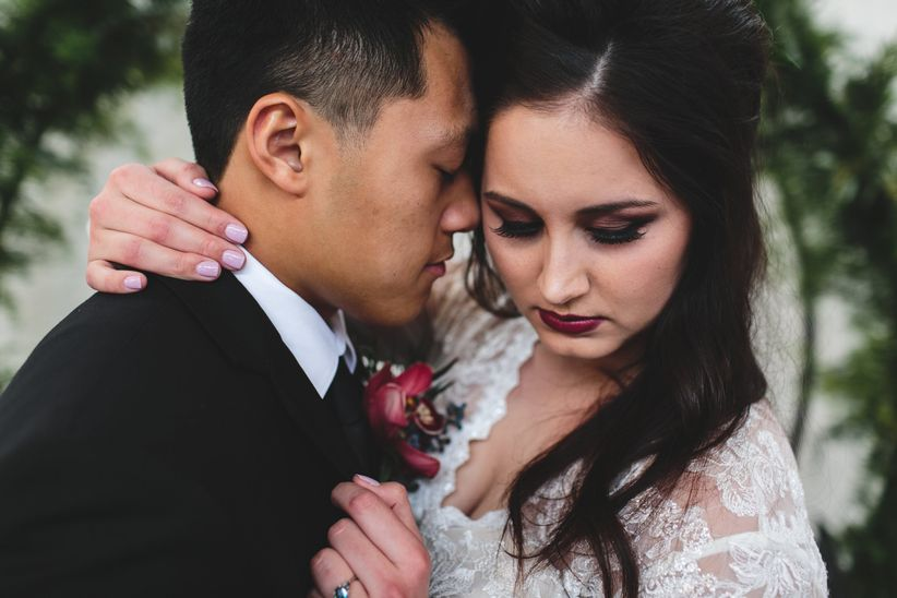 dark wedding makeup