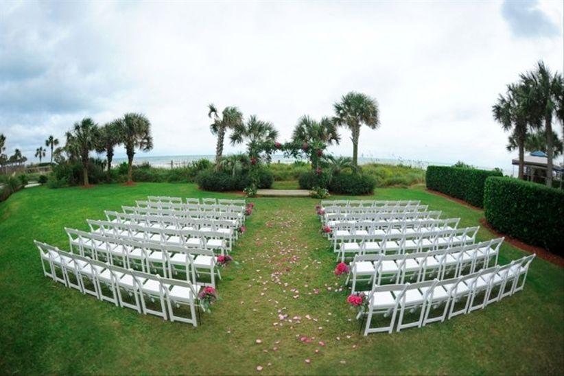 outdoor wedding ceremony overlooking the ocean in Myrtle Beach