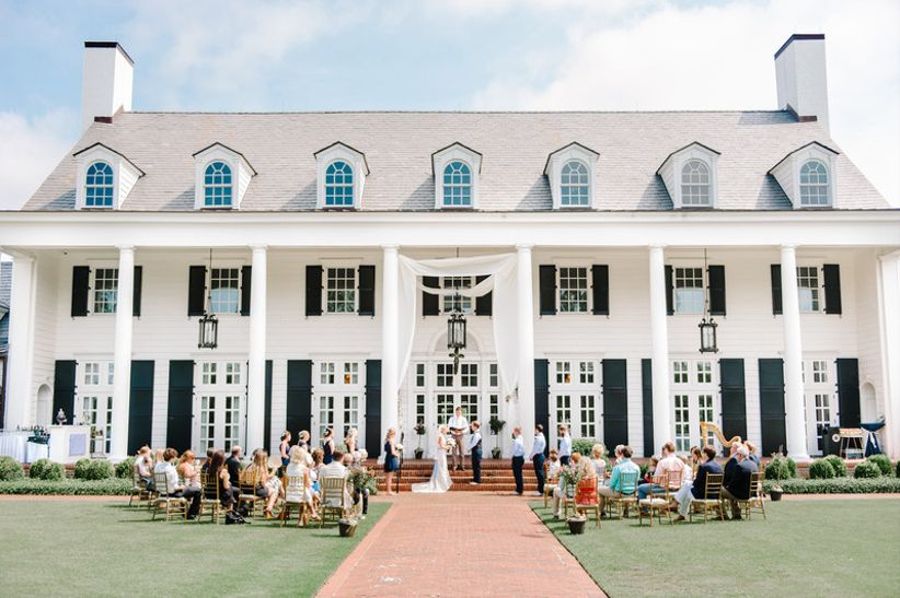 outdoor wedding ceremony at Pine Lakes Country Club in Myrtle Beach